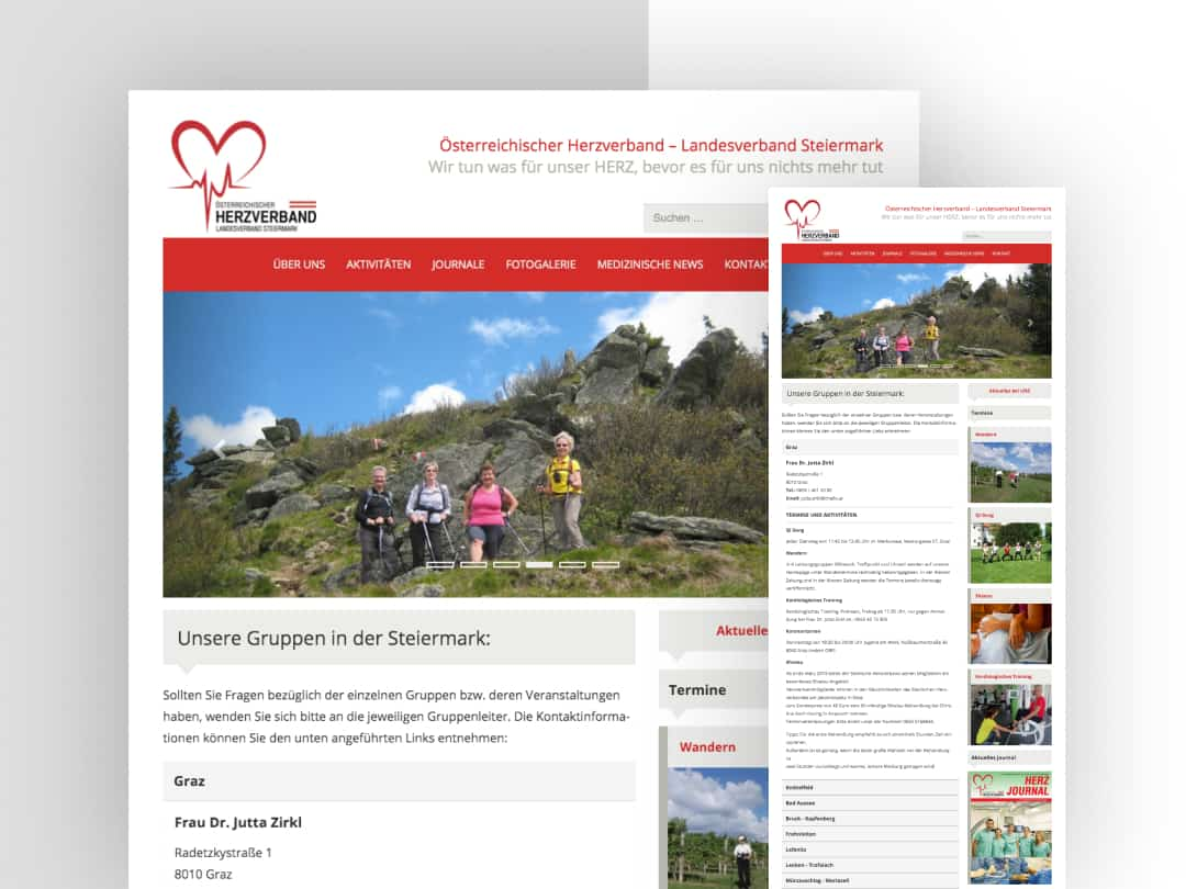 Κατασκευή ιστοσελίδων Herzverband-Graz